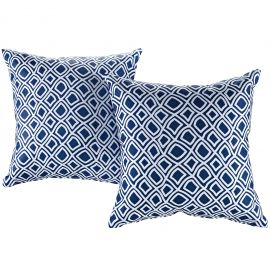 Modern Two Piece Outdoor Patio Pillow Set