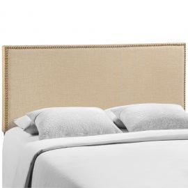 Borough Queen Nailhead Upholstered Headboard