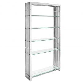 Grid Stainless Steel Bookshelf