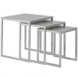 Alaina Stainless Steel Nesting Table