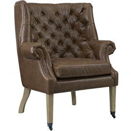 Elena Upholstered Vinyl Lounge Chair