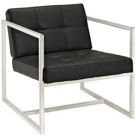 Glide Upholstered Vinyl Lounge Chair