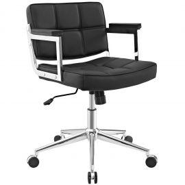 Render Mid Back Upholstered Vinyl Office Chair