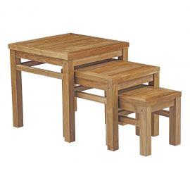 Oasis Outdoor Patio Teak Nesting Table