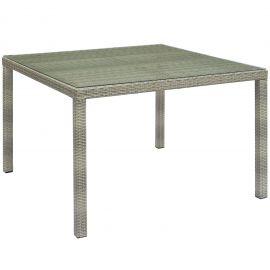 """Cora 47"""" Square Outdoor Patio Wicker Rattan Table"""