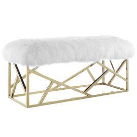 Commingle Sheepskin Bench