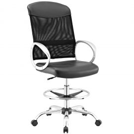 Symbol Mesh and Vinyl Drafting Chair