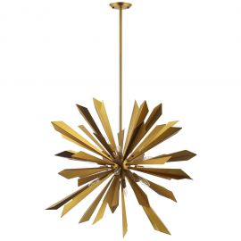 Pendle Starburst Brass Pendant Light Chandelier