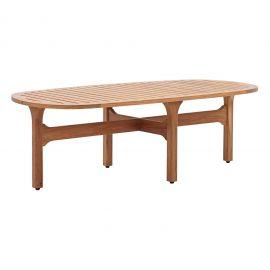 Sun Outdoor Patio Premium Grade A Teak Wood Oval Coffee Table
