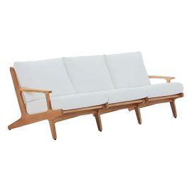 Sun Outdoor Patio Premium Grade A Teak Wood Sofa
