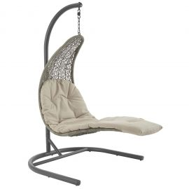 Panorama Hanging Chaise Lounge Outdoor Patio Swing Chair