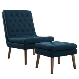 Transform Upholstered Lounge Chair and Ottoman