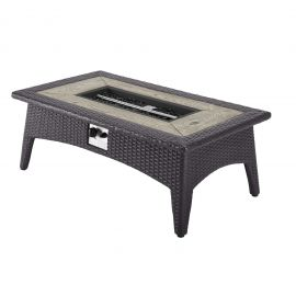 """Alivia 43.5"""" Rectangle Outdoor Patio Fire Pit Table"""