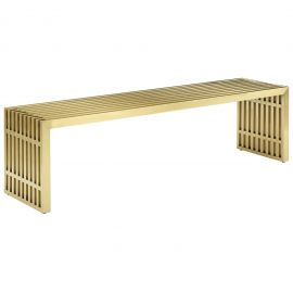 Grid Large Stainless Steel Bench