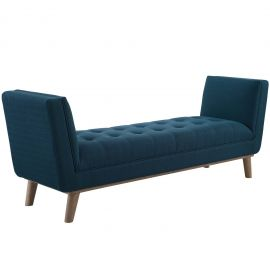 Harbor Tufted Button Upholstered Fabric Accent Bench
