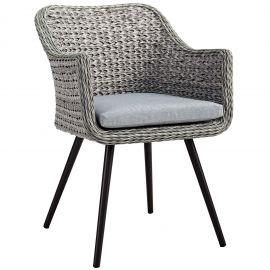 Strive Outdoor Patio Wicker Rattan Dining Armchair