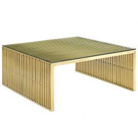 Grid Stainless Steel Coffee Table