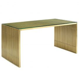 Grid Stainless Steel Dining Table
