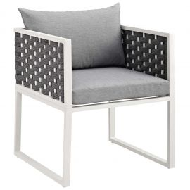 Posture Outdoor Patio Aluminum Dining Armchair