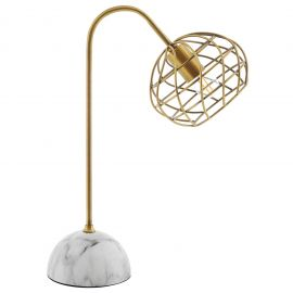 Urban Brass and Faux White Marble Table Lamp