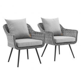 Strive Armchair Outdoor Patio Wicker Rattan Set of 2