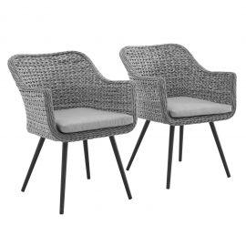 Strive Dining Armchair Outdoor Patio Wicker Rattan Set of 2