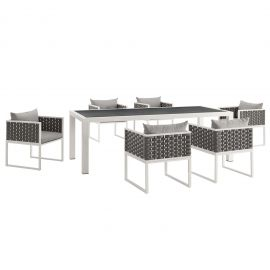 Posture 7 Piece Outdoor Patio Aluminum Dining Set