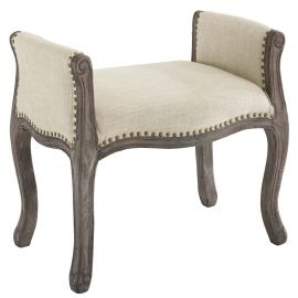 Reward Vintage French Upholstered Fabric Bench