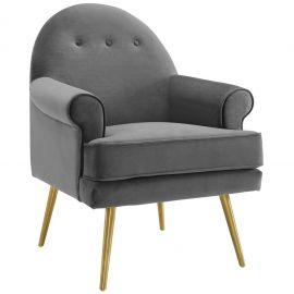 Renew Tufted Button Accent Performance Velvet Armchair