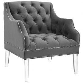 Daniela Tufted Button Accent Performance Velvet Armchair