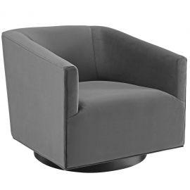 Roll Accent Lounge Performance Velvet Swivel Chair