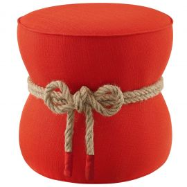 Blow Nautical Rope Upholstered Fabric Ottoman