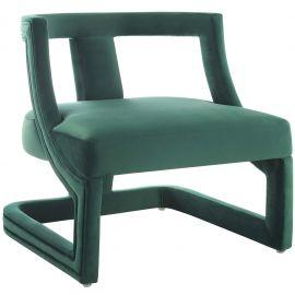 Autumn Accent Lounge Performance Velvet Armchair
