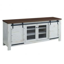 "Bennett 70"" Rustic Sliding Door Buffet Table Sideboard"