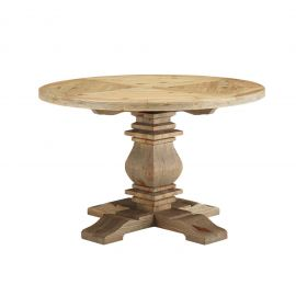 """Pole 47"""" Round Pine Wood Dining Table"""
