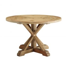 """Darn 47"""" Round Pine Wood Dining Table"""