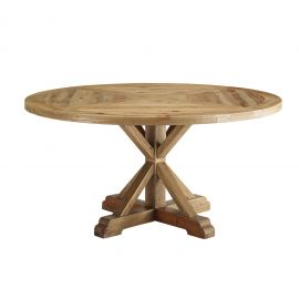 """Darn 59"""" Round Pine Wood Dining Table"""