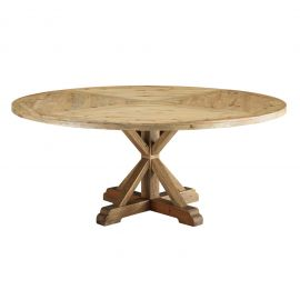 """Darn 71"""" Round Pine Wood Dining Table"""