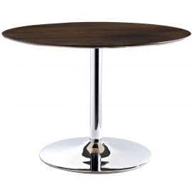 Podium Round Wood Top Dining Table