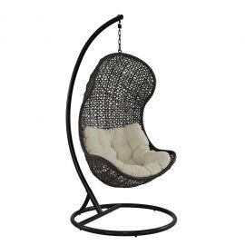 Kayla Swing Outdoor Patio Fabric Lounge Chair