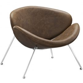 Curtly Upholstered Vinyl Lounge Chair