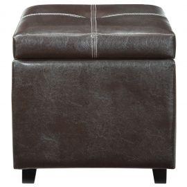 Gems Upholstered Vinyl Ottoman