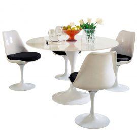 Refine 5 Piece Fiberglass Dining Set