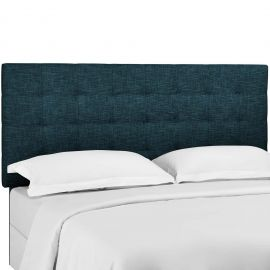 Pheasant Tufted King and California King Upholstered Linen Fabric Headboard