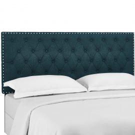 Elena Tufted King and California King Upholstered Linen Fabric Headboard