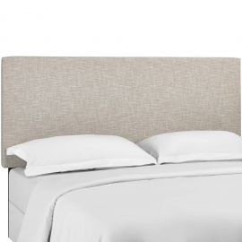 Ivy King and California King Upholstered Linen Fabric Headboard