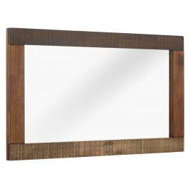 Haley Rustic Wood Frame Mirror