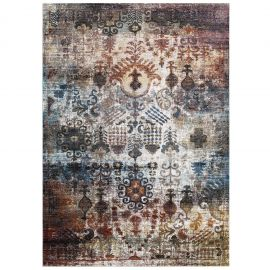Victor Tahira Transitional Distressed Vintage Floral Moroccan Trellis 4x6 Area Rug