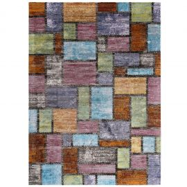 Victor Nyssa Abstract Geometric Mosaic 4x6 Area Rug