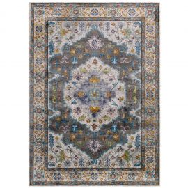Victor Anisah Distressed Floral Persian Medallion 4x6 Area Rug